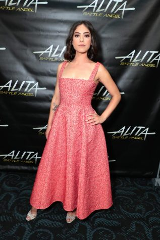 Star of Netflix series Rosa Salazar poses seriously to show her artistic depth.