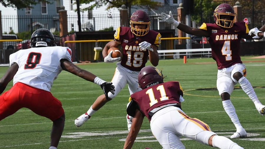 Football team rebounds with win, moves to 3-4